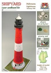 Leuchtturm Pellworm Laser Kartonbausatz Krick 24676
