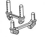 Karosseriehalterung Aluminium Truck/Truggy (Set) Krick 646138