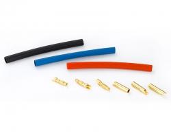 Goldkontakt Steckverbindung 4,0 mm (je 3x Stecker+Buchse) Krick 67464