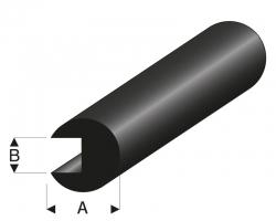 Kantenschutz Ø2x0,5 mm L=2 m Gummiprofil Krick rb104-30