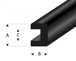 Gummi U-Profil 3x4 mm L=2 m Krick rb104-51