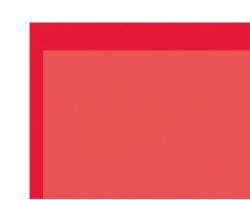 PVC Klebefolie transparent dkl. rot 0,1x194x320 mm Krick rb604-13